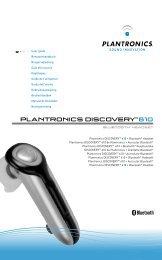 PLANTRONICS DISCOVERY™61