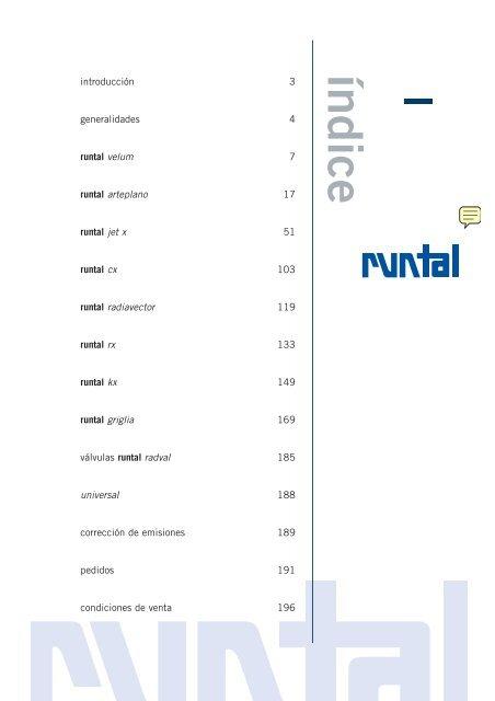 Tarifa de precios radiadores runtal catalogo pdf precios for Catalogo de radiadores