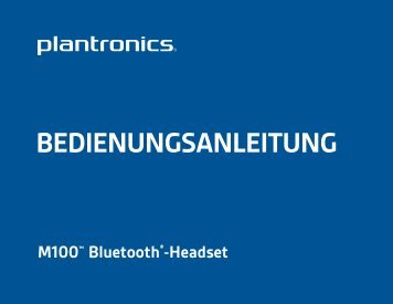 BEDIENUNGSANLEITUNG - Headset Direct Ltd. Headset Direct Ltd.