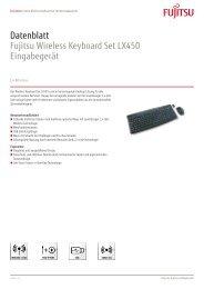 Datenblatt Fujitsu Wireless Keyboard Set LX450 Eingabegerät