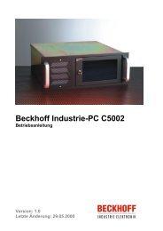 Beckhoff Industrie-PC C5002 - download - Beckhoff