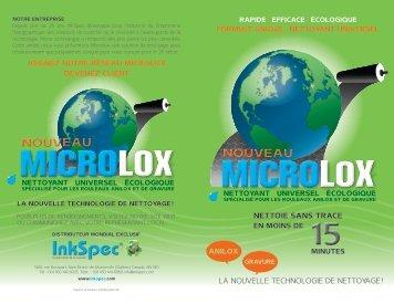 la nouvelle technologie de nettoyage ! nettoie sans trace - INKSPEC