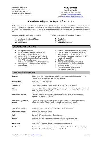 Consulter le CV - MG Consultants