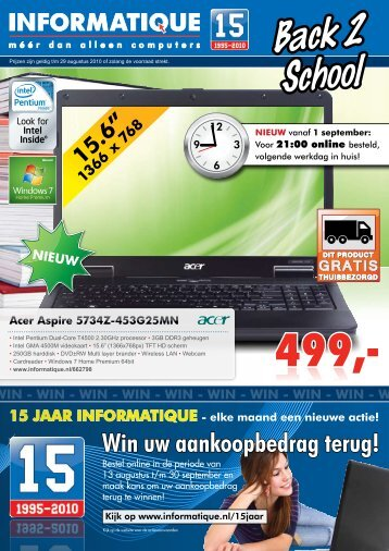 Back 2 School - Informatique