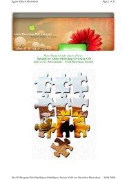 Adobe Photoshop PDF Tutorials Place Images Inside Jigsaw Pieces ...