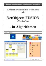 NetObjects FUSION - in Algorithmen - lern-soft-projekt