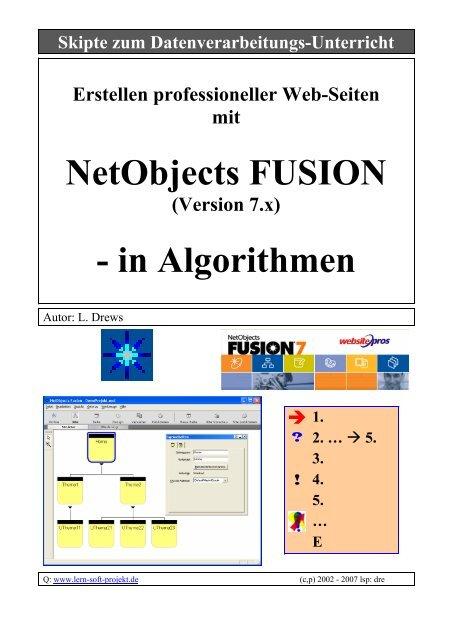 NetObjects FUSION - in Algorithmen - lern-soft-projekt