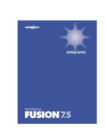 Getting Started - NetObjects Fusion