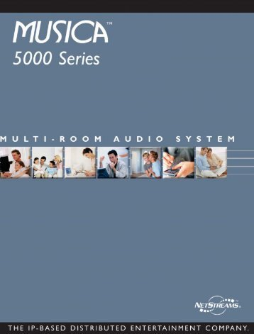 Netstream Musica 5000 series Consumer brochure - Profx