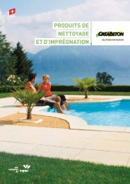 produitS de nettoyage et d'imprégnation - Creabeton Materiaux AG