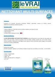 NETTOYANT MULTI-SURFACES - Le Vrai Professionnel