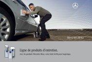 Ligne de produits d'entretien. - Mercedes-Benz in België