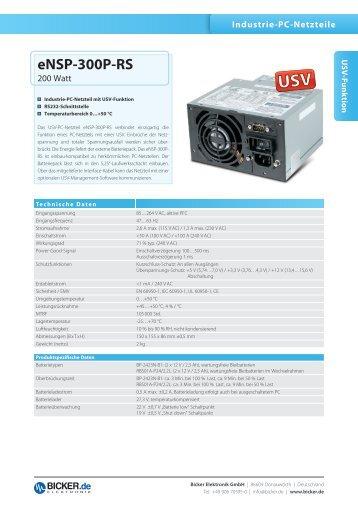 eNSP-300P-RS - Bicker Elektronik