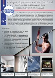ISOJET® Surfinox® pour toutes surfaces en inox Nettoie