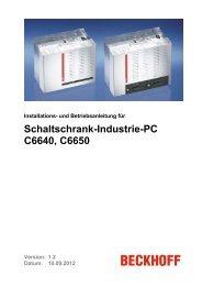 Schaltschrank-Industrie-PC C6640, C6650 - download - Beckhoff