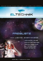 Download Preisliste - EL-Technik
