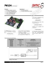 PW104PC104-Netzteil Features Applications • Standard, flexibel ...