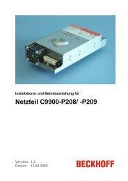 Netzteil C9900-P208/ -P209 - Beckhoff Information System