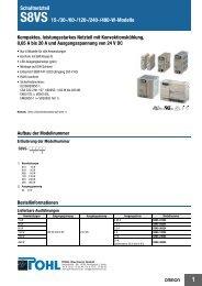Schaltnetzteil S8VS 15-/30-/60-/120-/240-/480-W-Modelle