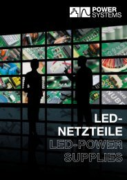 LED- NETZTEILE LED-POWER SUPPLIES