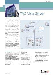 Datenblatt TAC Vista Server - LonMark