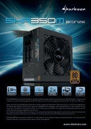 Das SHA350M Bronze ist ein PC-Netzteil mit modularem ... - Sharkoon