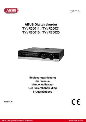 Bedienungsanleitung - ABUS Security-Center