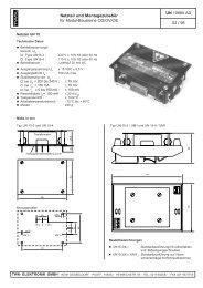 UN 10680 AD 02 / 98 Netzteil und Montagezubehör für Modul ...