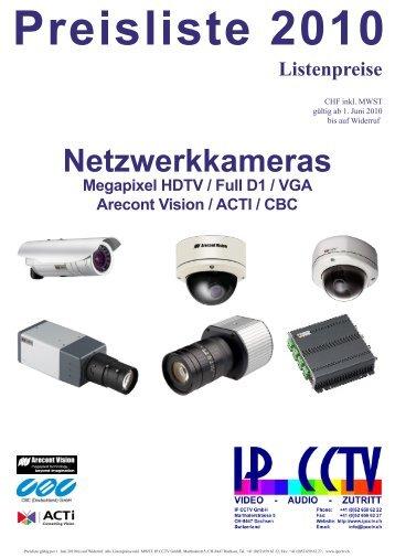 Netzwerkkameras S - IP CCTV GmbH