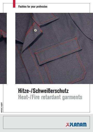 Hitze-/Schweißerschutz Heat-/Fire retardant  garments - Marlene ...