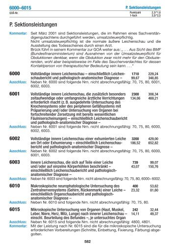 P. Sektionsleistungen - medical text online
