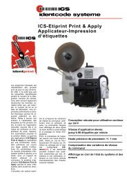 ICS-Etiprint Print & Apply Applicateur ... - ICS Identcode Systeme AG