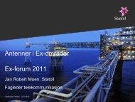 Antenner i Ex-områder Ex-forum 2011 - Ifea