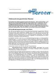 Fehlersuche bei geschirmten Räumen - EMScreen
