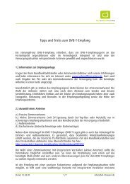 Tipps und Tricks zum DVB-T-Empfang (pdf - DVB-T-Bayern
