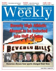 Beverly High Athletic Alumni to be inducted into - Beverly Hills Weekly