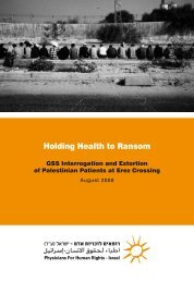 Holding Health to Ransom - Medico International