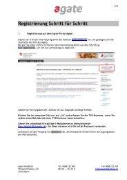 Registrierung Schritt für Schritt - Agate