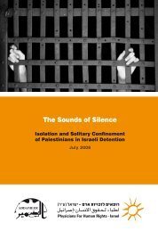 The Sounds of Silence: Isolation and Solitary Confinement - Addameer