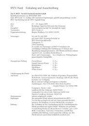 IPZV-Nord Einladung und Ausschreibung