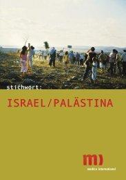 stichwort: ISRAEL/PALÄSTINA - Medico International