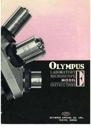 Olympus Laboratory Microscope Model E (EC and EF) Instructions