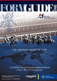 2012 LONGINES Hong Kong International Races - Form Guide ...