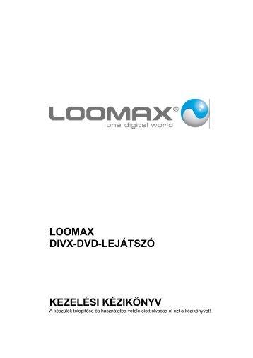 LOOMAX DIVX-DVD-LEJÁTSZÓ KEZELÉSI ... - MPEG4-Players