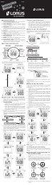 Z013-E - download PDF - Lorus Watches