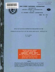 Effect of Elevated Temperature Irradiation on the Strength and ...