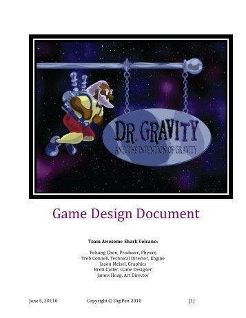 Download James Preston Game Design - Game design document download