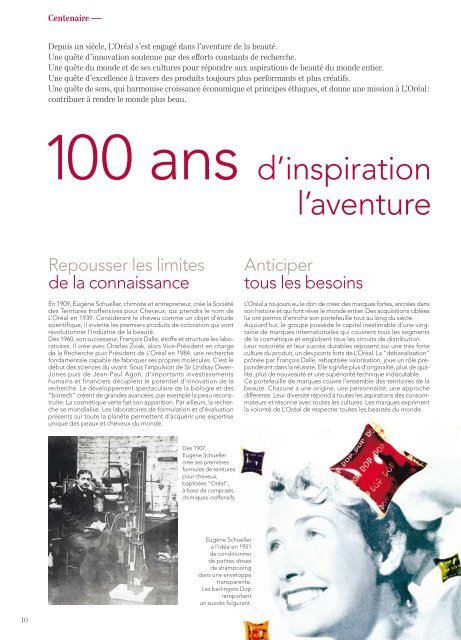 Rapport Annuel 2008 - Développement Durable - L'Oréal