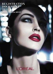 REGISTRATION DOCUMENT 2011 - L'Oréal Finance