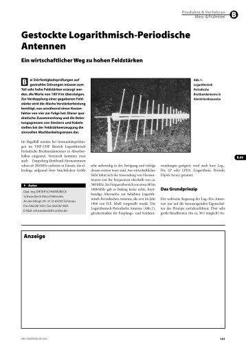 Gestockte Logarithmisch-Periodische Antennen